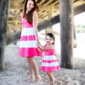 Set X 2 Vestido Familia A Juego Madre E Hija