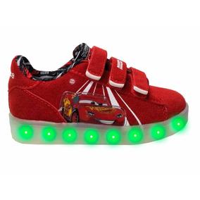 Zapatillas Cars Con Luces Recargables Usb Talle 24
