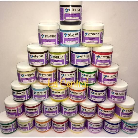 Pintura Chalk Paint Eterna 200 Ml  X 6 Unidades Colores Vs