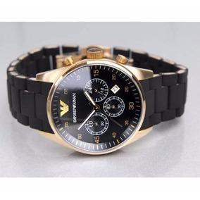 Relógio A5 Emporio Armani Ar5905 Preto Rose Novo Top Oferta