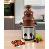 Fuente De Chocolate Grande Tres Niveles En Acero Inoxidable