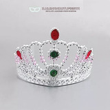 30 Tiaras De Princesa Plástica Corona Plateada Carioca