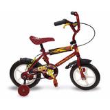 Cars Bicicleta Con Rueditas Estructura Metal Original