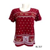 Baby Look Camiseta Feminina Indiana Hippie Mandala Vinho