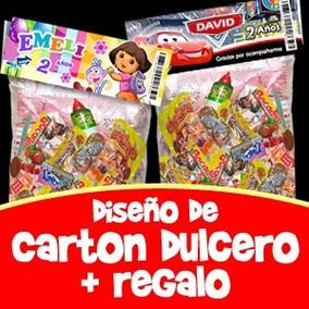 Dulcero Infantil Personalizado Carton Imprimible