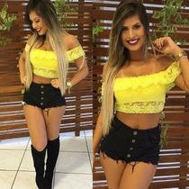 Shorts Shortinho Verão Hot Pants Cintura Alta Anitta Juju