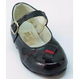 Divinos Zapatos Beba-legítimo Cuero Charol-un Solo Uso-20-21