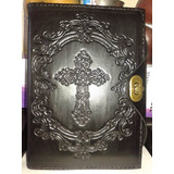Funda Cuero P´ Biblia Libros Antiguos Grabado Personalizado