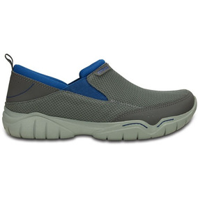 Zapato Crocs Caballero Swiftwater Mesh Moc Gris