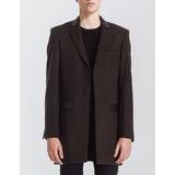 Blazer Bowen Loden 3/4 Coat Con Cuello De Cuero