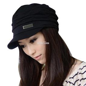 Estilo Coreano Mujeres Plisado Gorra Sombrero... (black)