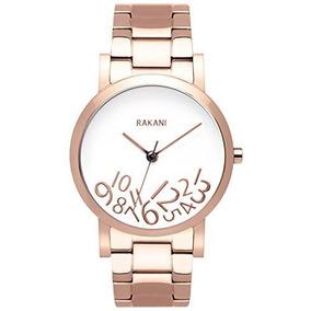 Rakani, ¿a Qué Hora? Reloj De Oro Rosa De 40 Mm En Blanco Co