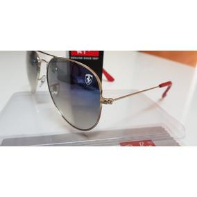 Ray ban azul degrade lente de cristal feminino e masculino Ray 43713e231a
