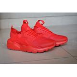 Kp3 Zapatos Nike Air Huarache Ultra Rojo Damas Y Caballeros