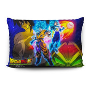 Funda De Almohada Dragon Ball Super Broly 70x45cm Vudú Love
