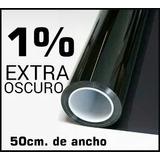 Papel Ahumado X Metros Y Bobina Negro Oscuro 1% Protec 50cm