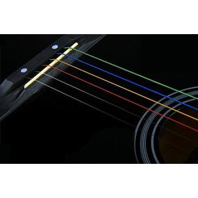 Encordamento Violão Cordas Coloridas De Aço Frete 9,00