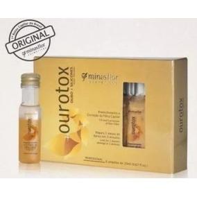Botox Minas Flor Ourotox Capilar 6 Ampolas 20ml Repair 3min