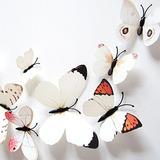 Obtener 24pcs Naranja 3d Mariposa Blanca Nevera Imanes