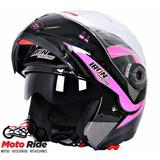 Casco Abatible Iron Racing Taurus Rosa/negro