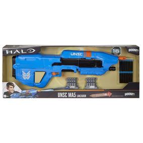 Mattel - Boomco Halo - Unsc Ma5 Blaster Azul Con 16 Dardos