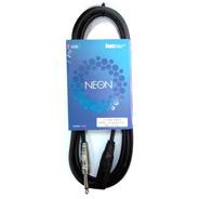 Cable Canon - Plug 1/4 Standar 3 Mts Neon Kwc 111