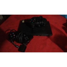 Playstation 2 Usada Con Dos Joystick