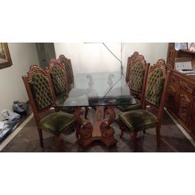 Mesa Antiga De Jantar 6 Cadeiras Móveis Antigos Antiguidade