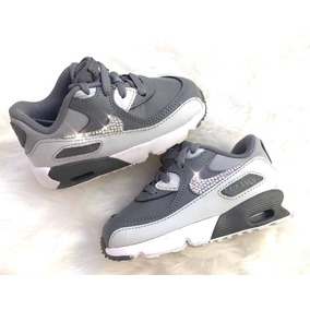 Zapatillas Nike Air Max 90 Bebe Nena Strases Brillo Original