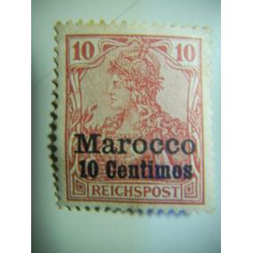 Correio Alemão No Marrocos - Sobreimpresso - 10 Cent - 1900