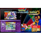 Nintendo 3ds + Juegos 3d Temas 32gb Ultra Luna