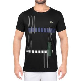 d5abbbbcbd2ab Camiseta Lacoste Graphic Tennis Th7976 Preta