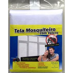 Tela Protetora Mosquiteira Armação Velcro Até 1,25 X 1,25 M²