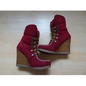 Botas Rojas Forro+botines Negros+zapatillas Dama Numero 23.