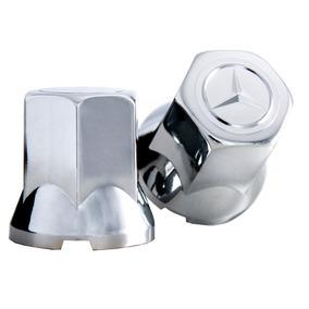 Capa De Porca Mercedes Benz Cromada Roda Caminhão 32mm
