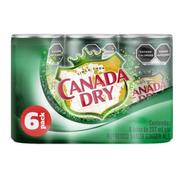 Refresco Canada Dry Sabor Ginger Ale 6 Latas De 237 Ml C/u