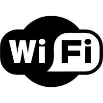Adesivo Wi-fi (1) 6x8 Cm Frete Fixo Promoção