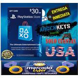 Tarjeta Playstation Network Psn 30 Usd Combo Usa Ps3 Ps4