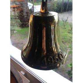 Campana Tipo Antigua Bronce 20 Cm Timbre Llamador Entrada