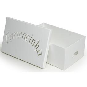 Farmacinha + Porta Fralda + Cesto 3 Potes - Mdf