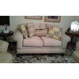 Sofa 2 Puestos - Tela Color Beige
