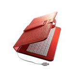 Funda Con Teclado Para Tablet 7 Pulgadas L V8 Rosa O Blanca