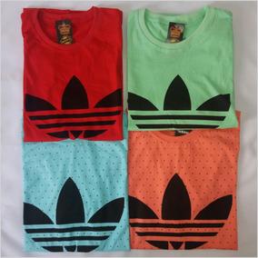 Camisa adidas Masculina Estampada Kit 3 Camisetas + Brinde