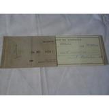 Capa E 1 Folha Talão Cheques Banco Da America