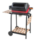Easy Street Electric Cart Grill Con Dos Mesas Laterales P...