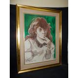 Milchu - Cuadro Mujer Oleo Y Pastel Obra De Lubrano (83)