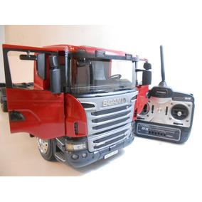 Scania Bruder Rc Tamiya Flatbed 1-14 Truck Pronta Prancha
