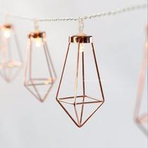 Serie De Luz Led Retro Diseño Diamante Para Decoración