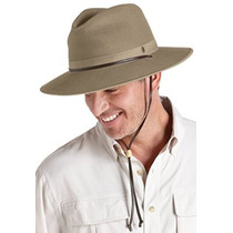 Coolibar Upf 50+ Hombres Crushable Ventilada Lienzo Sombrero