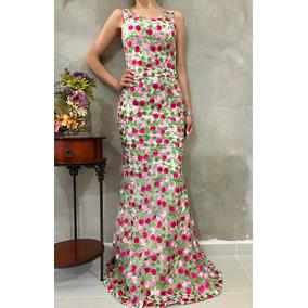 Vestido De Fiesta Flores
